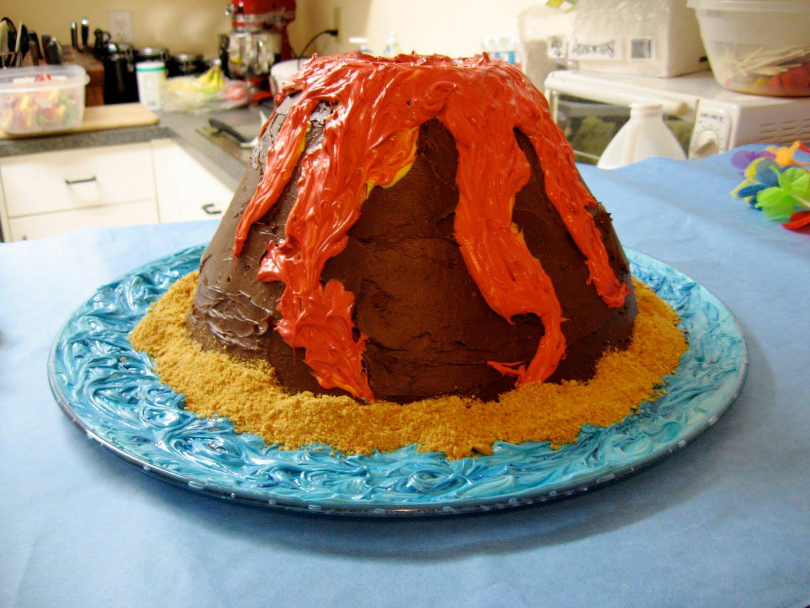 Sunrise To Sunset Volcano Cake