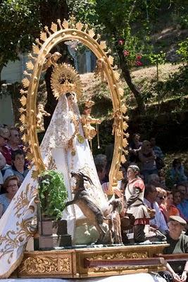 Detalle de la virgen de Chilla en la misa, mayo 2009.