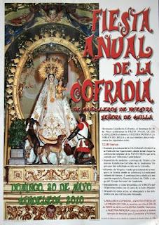 Cartel de la fiesta de los caballeros de Chilla 2010