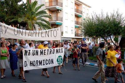 Manifestación a su paso por la plaza del Castillo