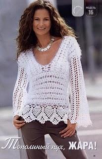 mis creaciones 25 blusas tejidas a crochet