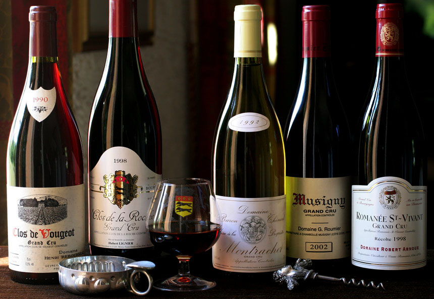 many wines vin champagne francais