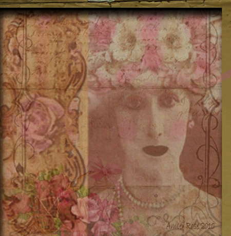 Tattered in Pink-altered art