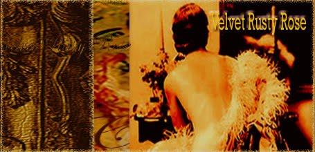Velvet Rusty Rose - Altered art design