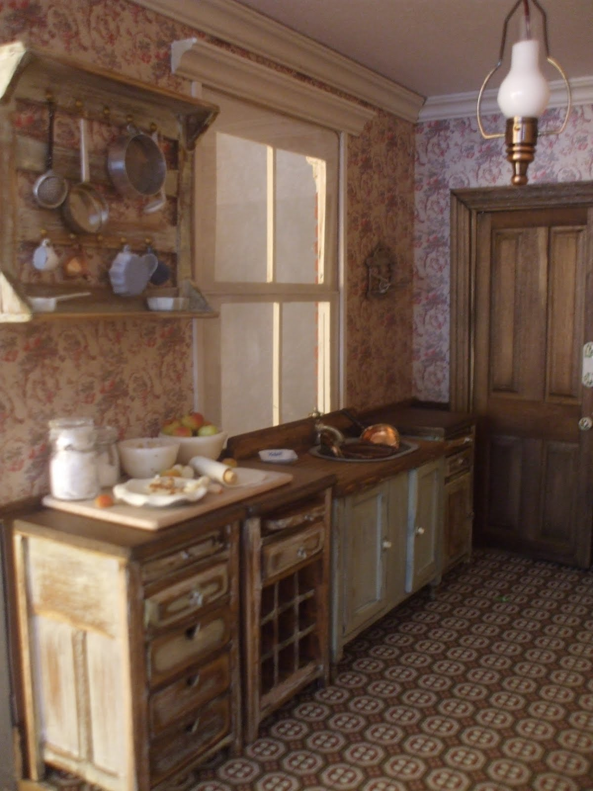 Diary of an edwardian dolls house interior decorating and for Edwardian kitchen
