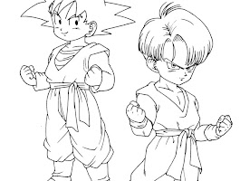 Dragon Ball Z Goku Colouring Pages