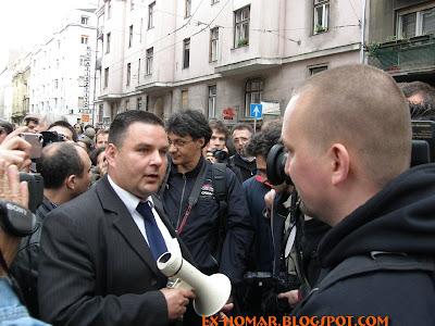 Szabó György fideszes képviselő és zsidó aktivista, valamint Tomcat, alias Polgár Tamás, főállású magyar
