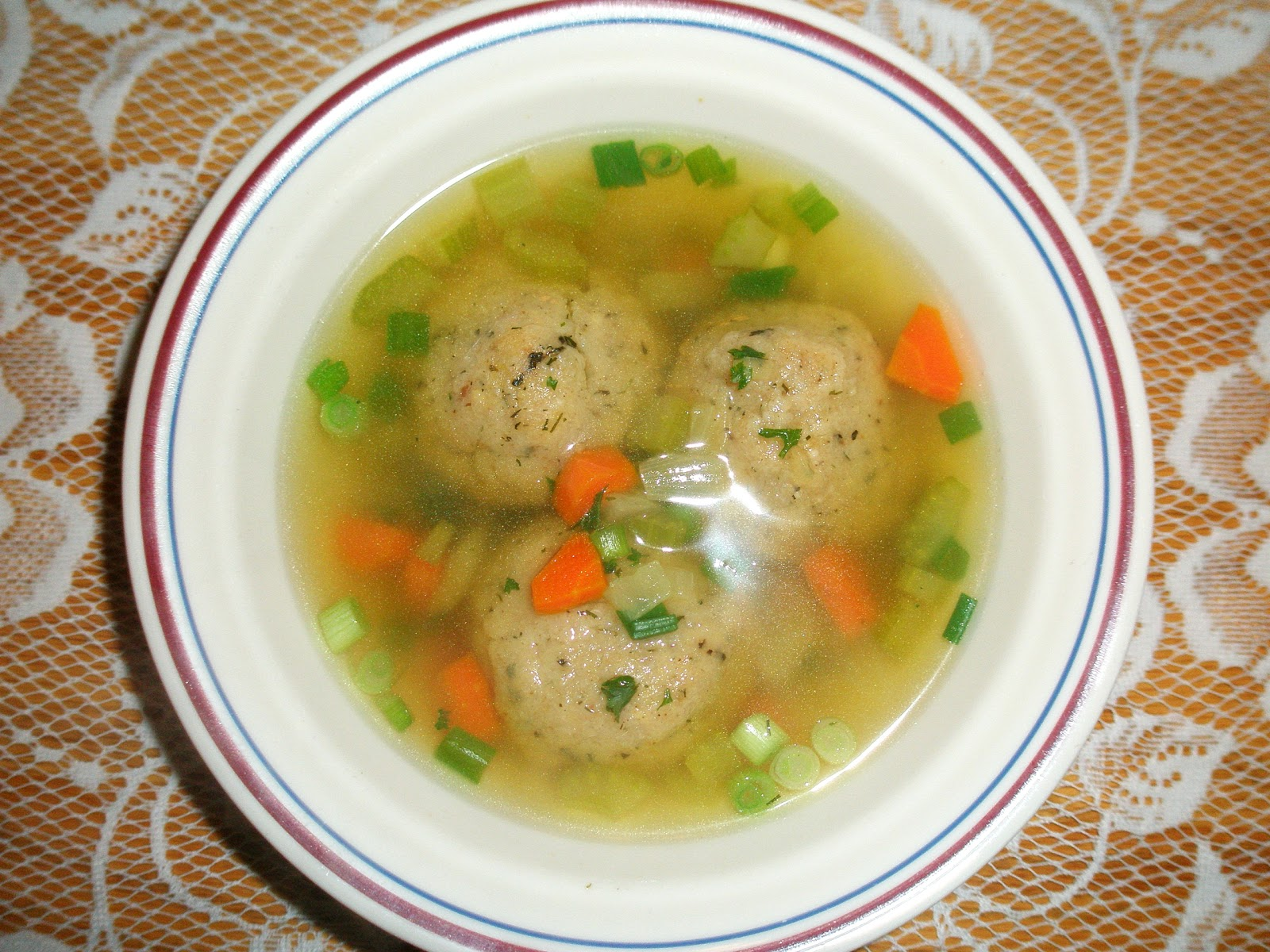 My Adventures Testing 1000 Vegan Recipes: Vegan Matzo Ball Soup