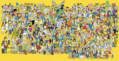 todos os personagens da série de TV Os Simpsons