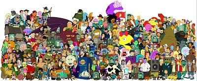todos os personagens da série de TV Futurama