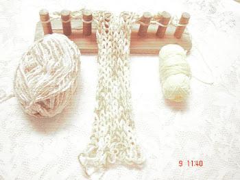 tricotando com madeira