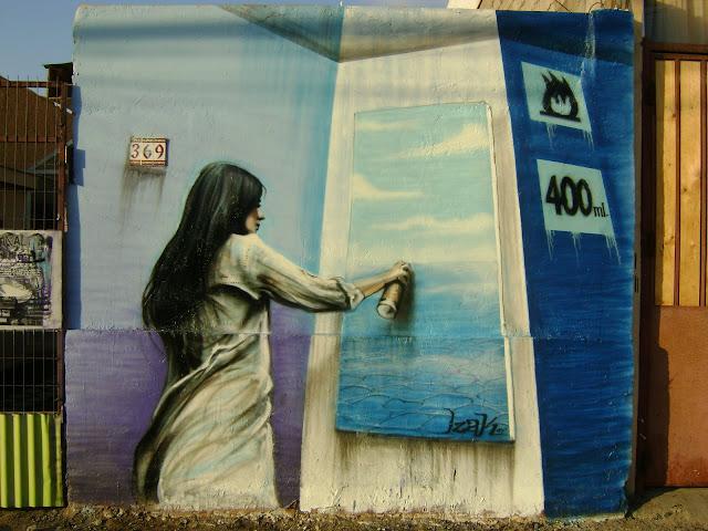 graffiti de izak, chile