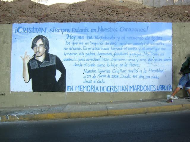 graffiti de izak, antofagasta, chile