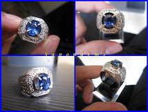 GOLD+Diamonds Ring Blue Sapphire