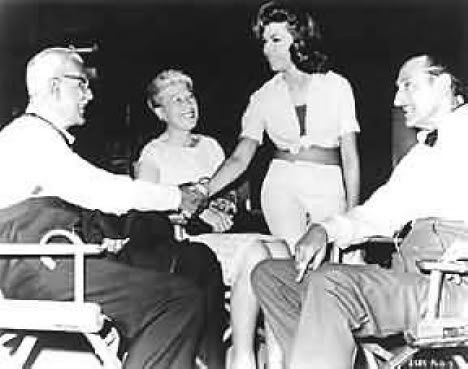 Nancy Sinatra greets Karloff and