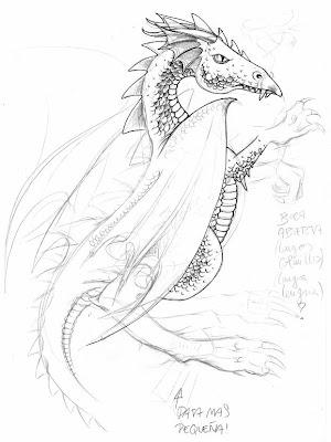dibujos de dragones para tatuajes. Las colas de los dos dragones descendían, juntándose en el tribal,