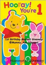 CoNtest MumMy_AyU GiveAway@ 1st Birthday MoMenT