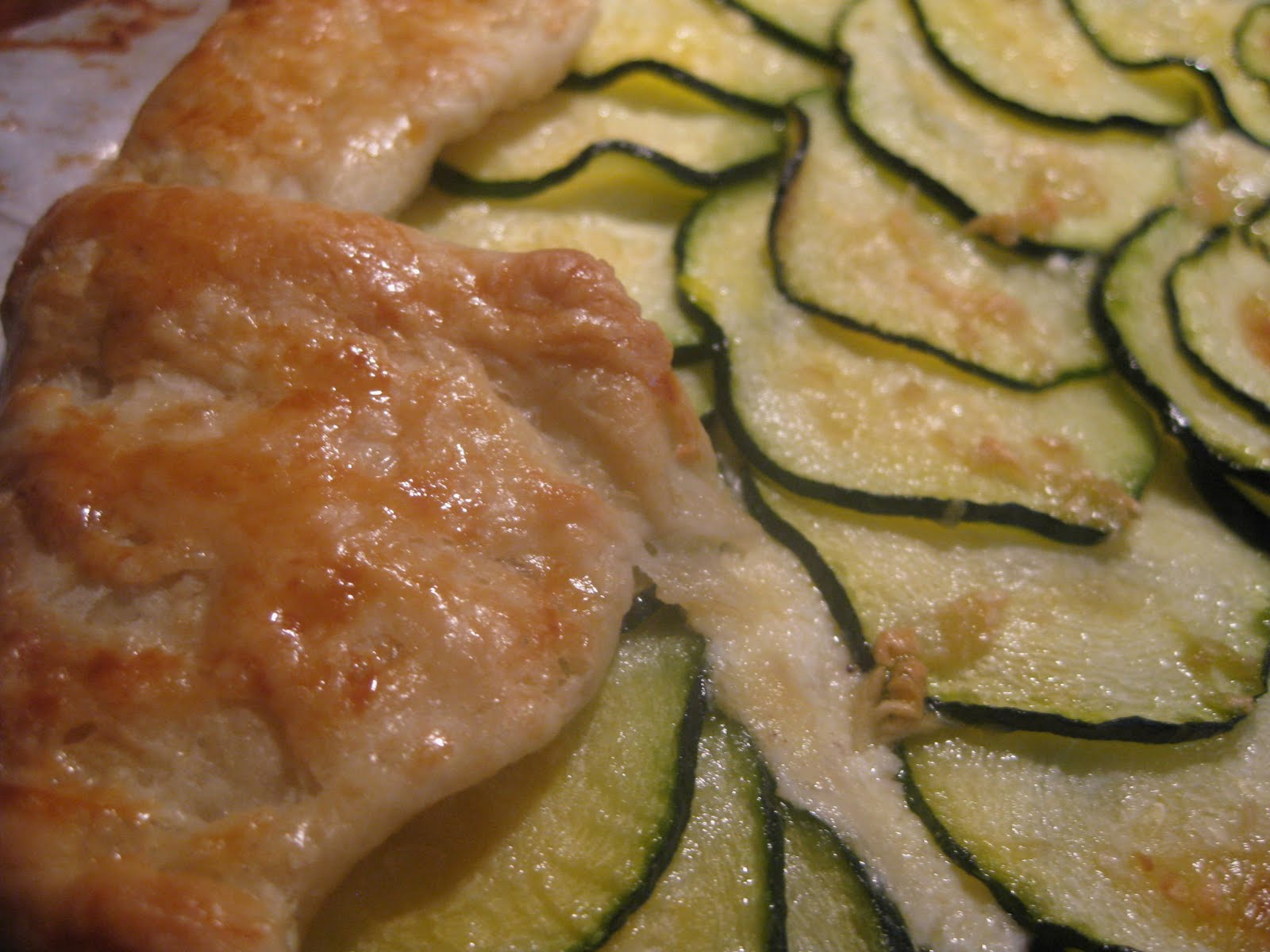 Andrea The Kitchen Witch: Zucchini and Ricotta galette