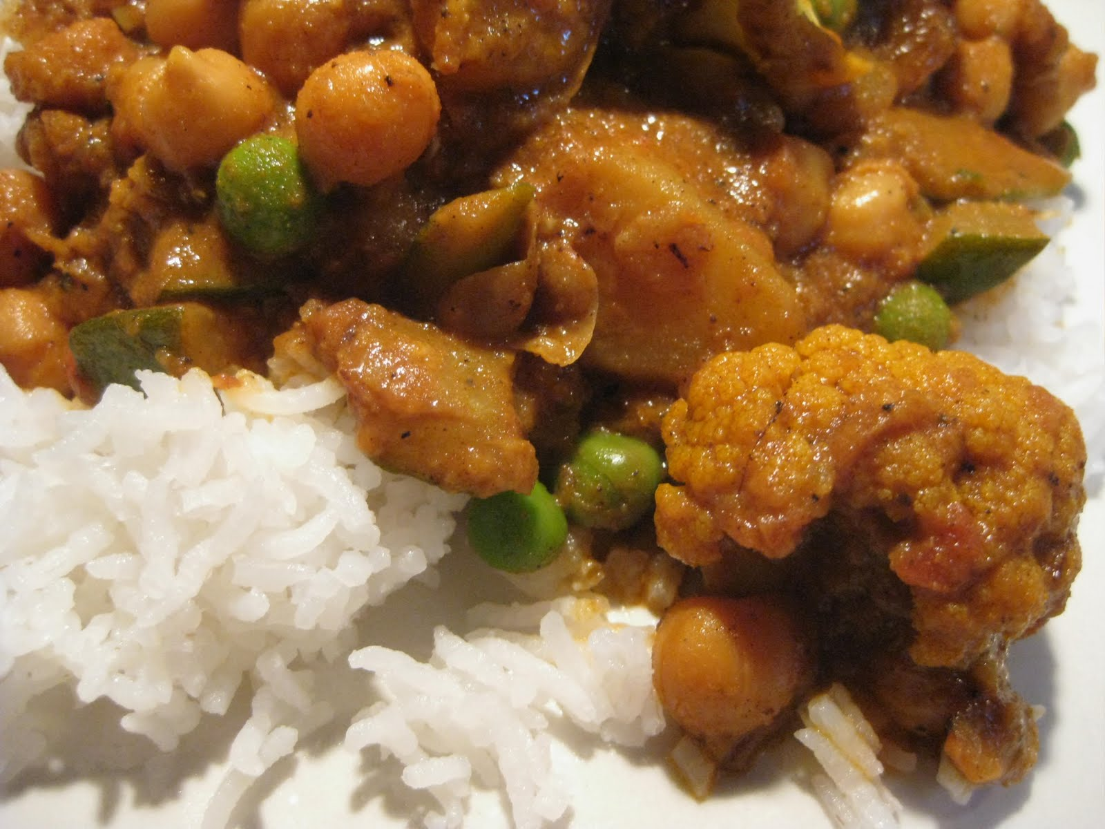 Andrea the kitchen witch indian style curry potato chick pea indian style curry potato chick pea zucchini cauliflower and peas forumfinder Choice Image