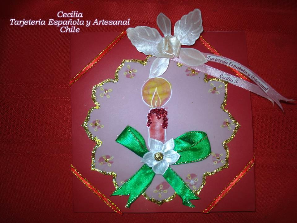 Tarjeter a espa ola y artesanal chile tarjetas con - Tarjetas con motivos navidenos ...