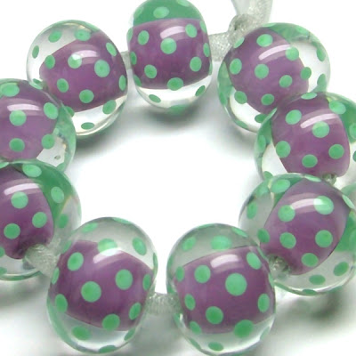 Lampwork Polka Dot Beads