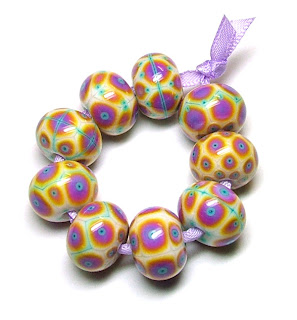 Marzipan Fancies Lampwork Glass Beads