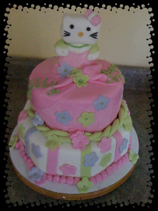 Hello Kitty 3d Cake. Hello Kitty cake made for a
