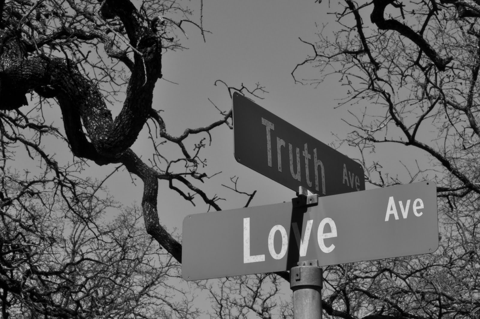 Street Sign The Corner of Truth and Love