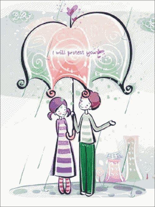 Daftar Pola Kristik Indonesia: Sweet Couple Photo