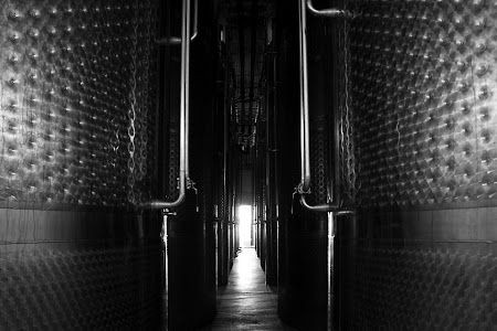 Wine production equipment, Fairview wine & cheese estate, Stellenbosh, South Africa © Matt Prater