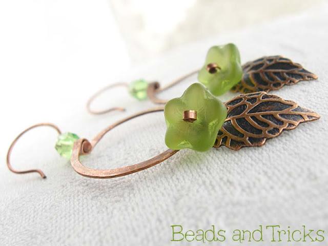 orecchini cerchio in fiore