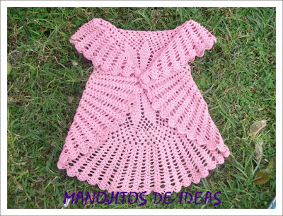 MANOJITOS DE IDEAS: CHALECO CIRCIULAR A CROCHET