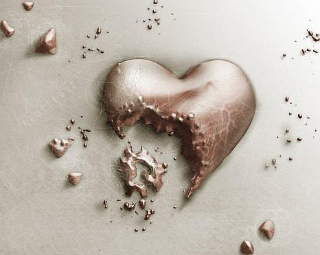 corazones rotos de amor. quotas de amor