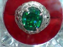 cincin batu permata aquamarin