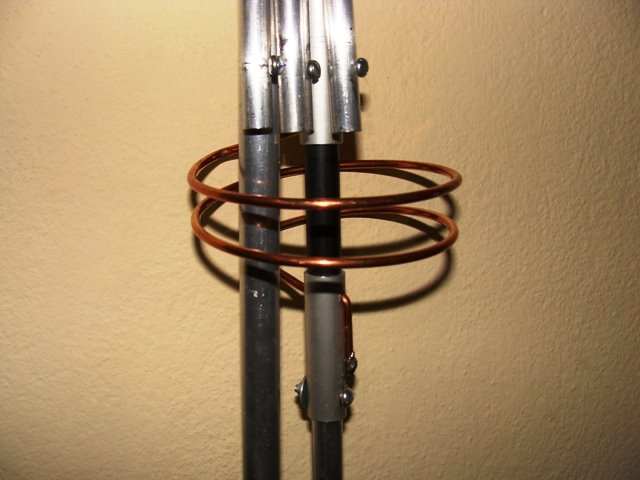 bobina central da antena 2 x 5/8