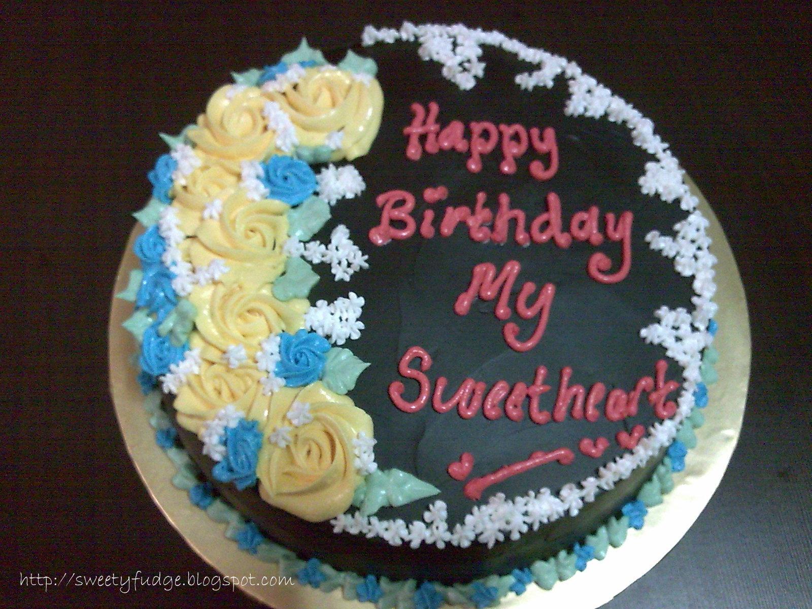 Sweetyfudge Bakery 001925672 X Happy Birthday My Sweetheart Rini
