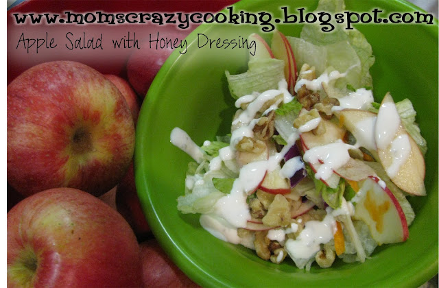 Made this salad with the delicious apples we picked in Oak Glean ...