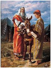 Abraão leva Isaque para ser sacrificado