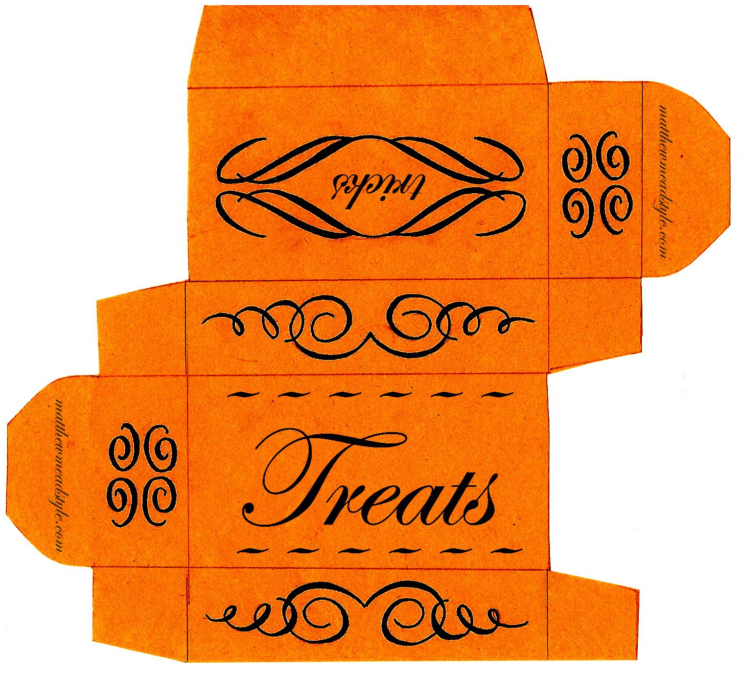 Halloween Treat Box Template