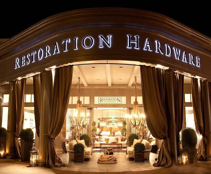 La la linen an all new restoration hardware for Restoration hardware online shopping