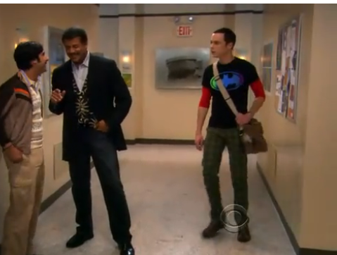 Tyson on Big Bang Theory