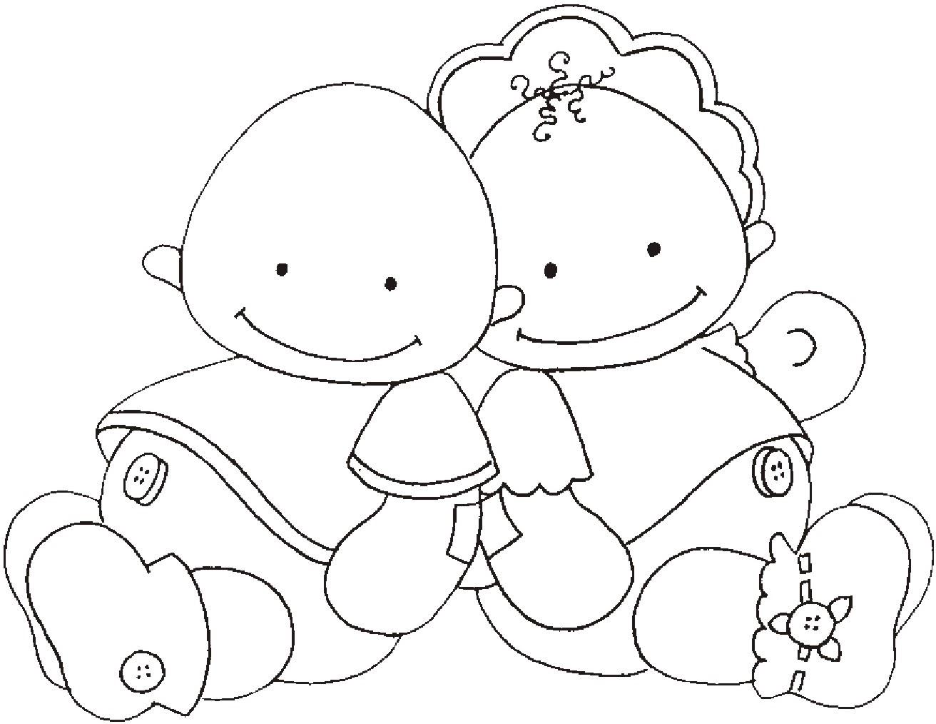 Dibujos para colorear bebes recien nacidos - Dibujos para colorear
