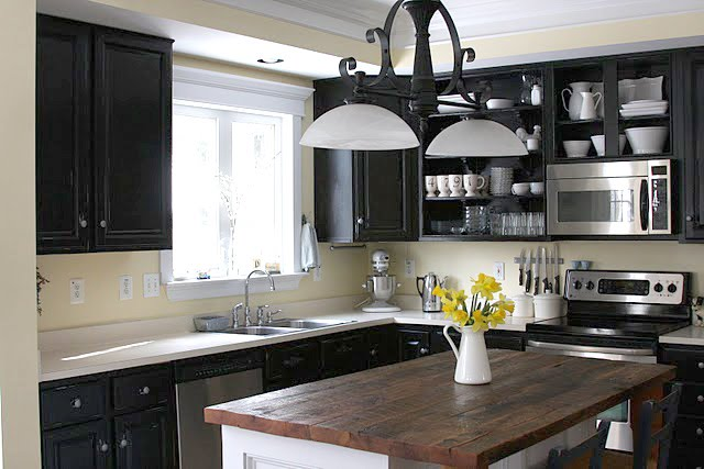 Remodelaholic  Black Kitchen Cabinets! Guest Project Feature