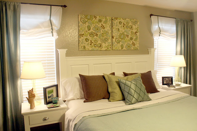 Remodelaholic head of the board headboard tutorial for How to make a headboard out of a door