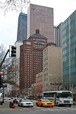chicago architecture cityscape allerton hotel. Black Bedroom Furniture Sets. Home Design Ideas
