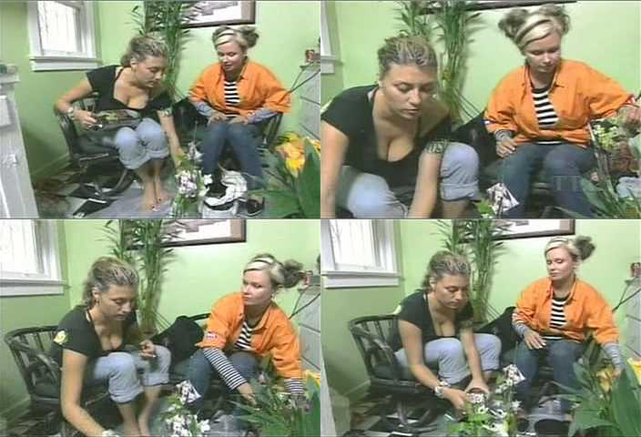 Genevieve Gorder Potting Some Plants On Trading Spaces She Was A Fun Designer To Watch