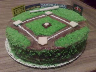Torta Con Motivo De Beisbol