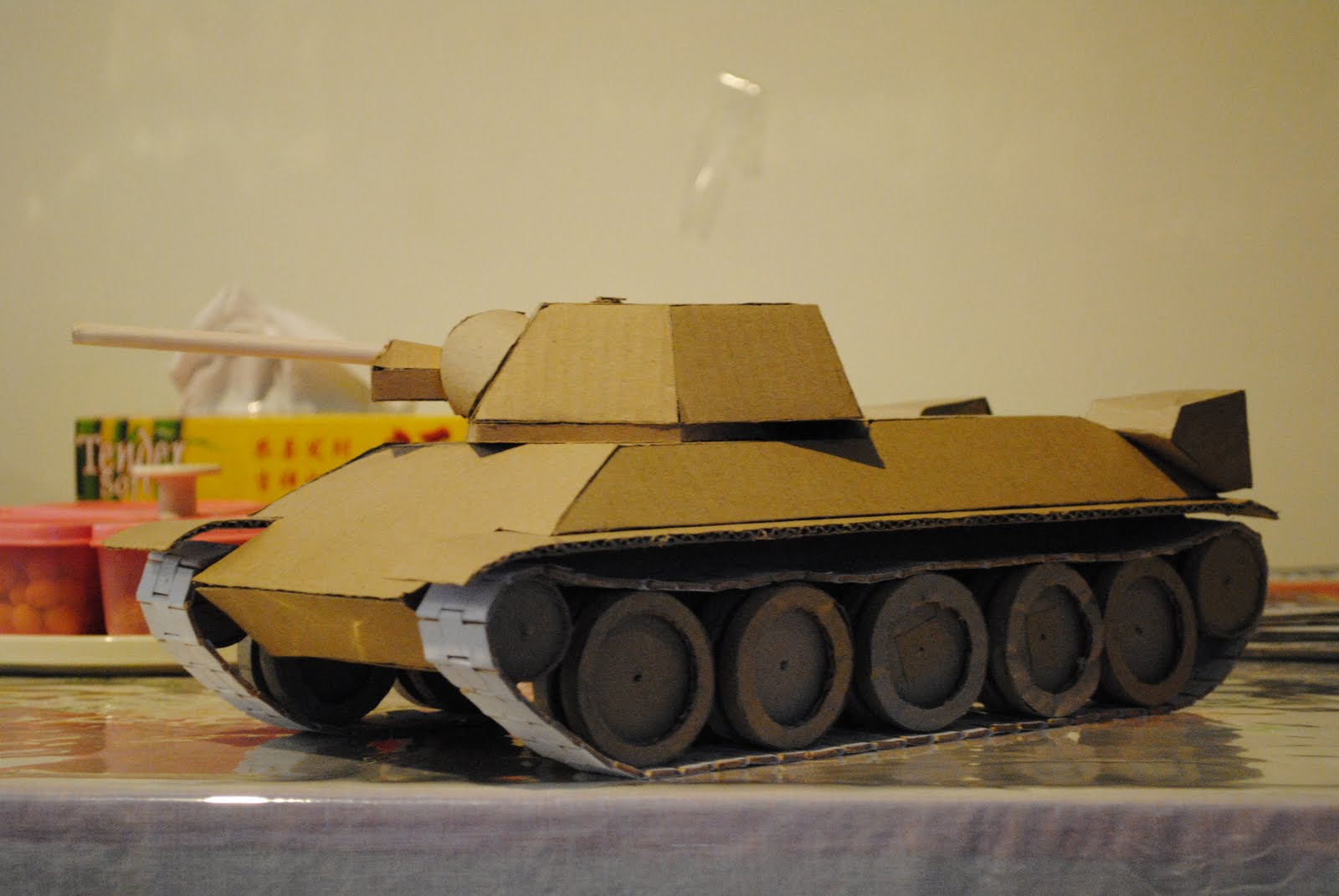 cardboard tank factory t 34 revisited