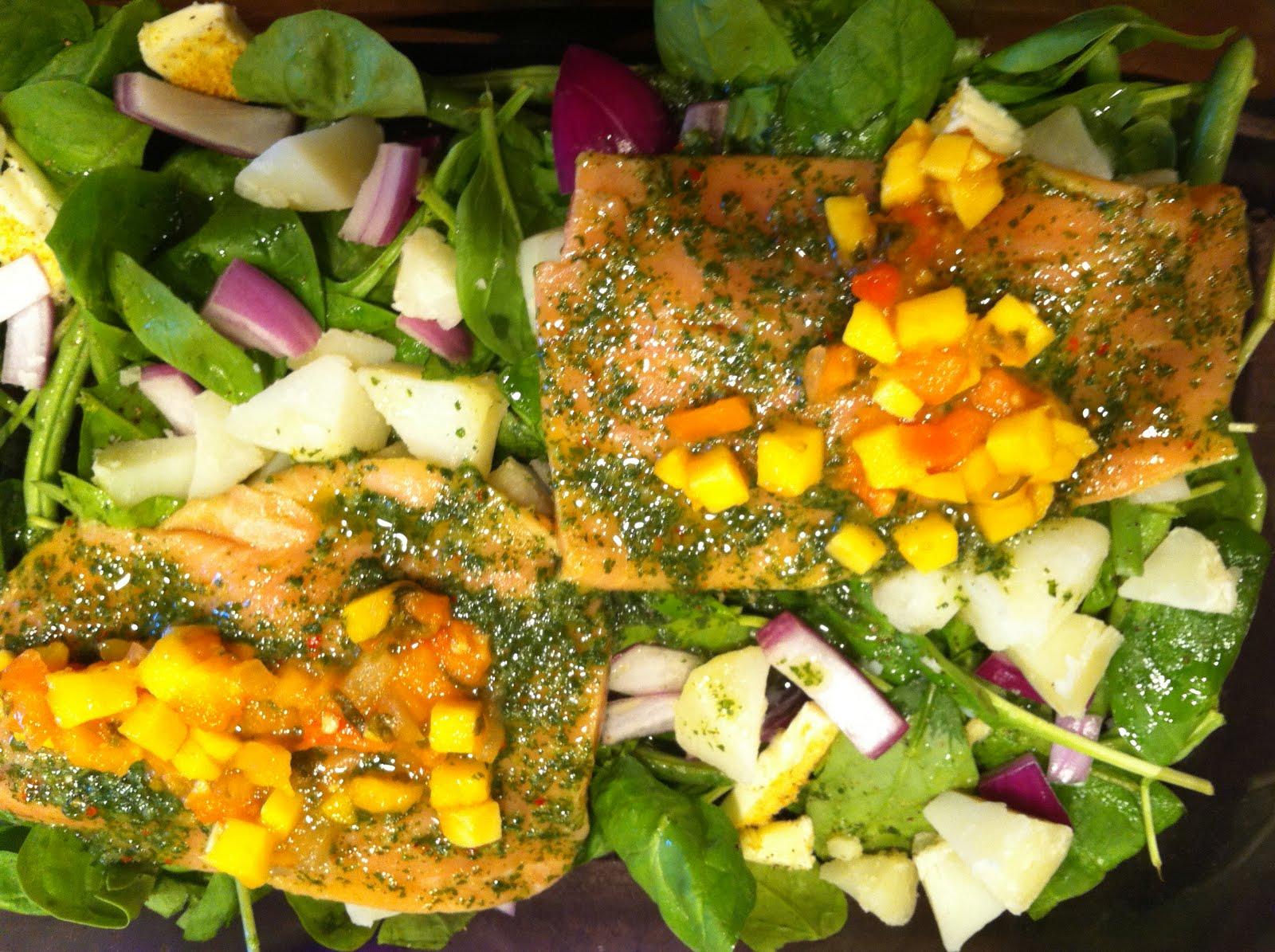 recipe salmon w mango salmon with mango chimichurri salmon with mango ...