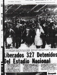 Liberados 327 detenidos del Estadio Nacional.